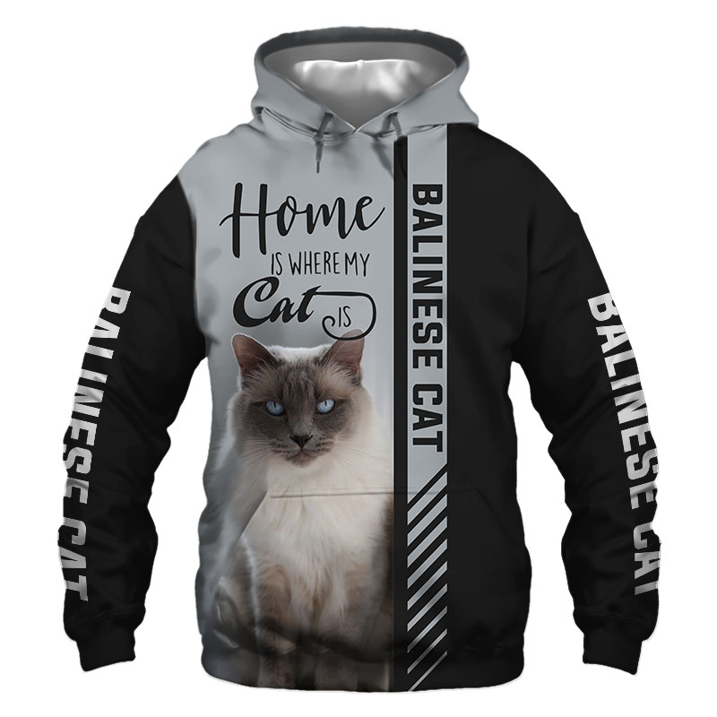 Balinese cat Hoodie, Sweatshirt, TShirt, Jacket