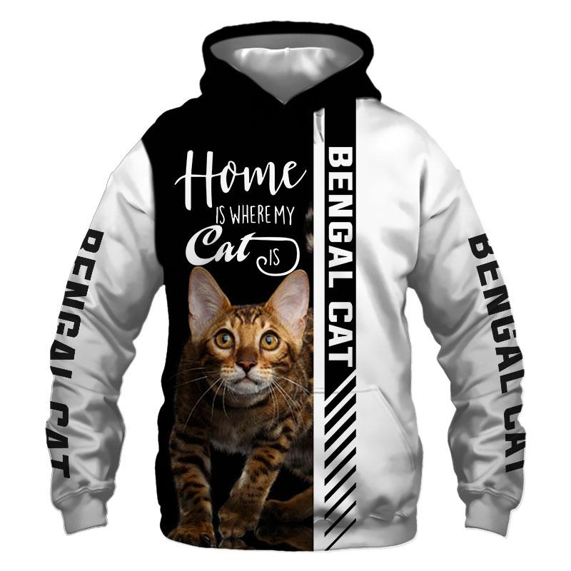 Bengal cat Hoodie, Sweatshirt, TShirt, Jacket