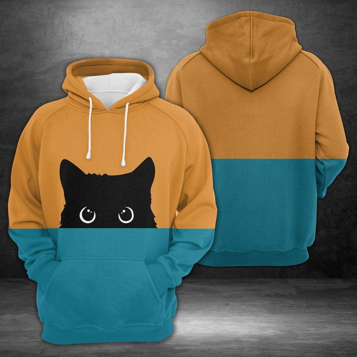 Black Cat 3D All Over Printed Hoodie AM290644