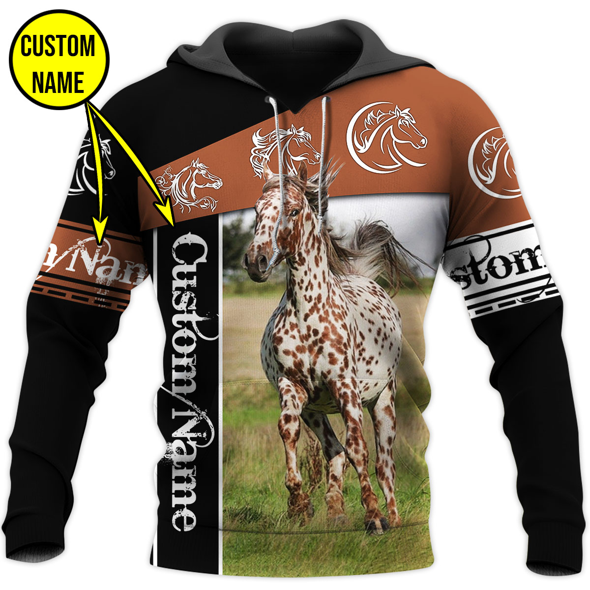 Personalized Your Name Love Horse 3D All Over Printed Shirts