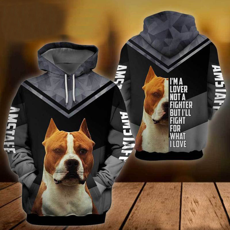 Amstaff Dog 3D All Over Printed Hoodie AI250809