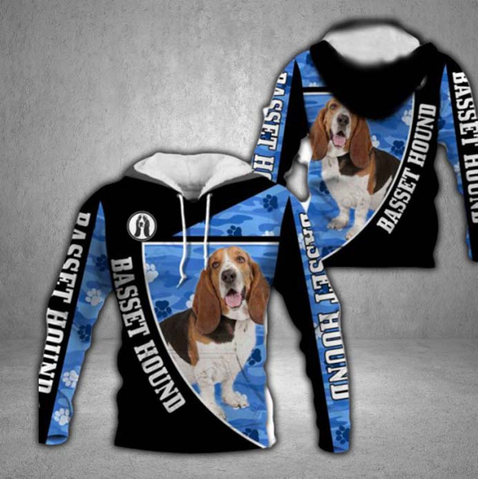 Basset Hound 3D All Over Printed Hoodie AM210702