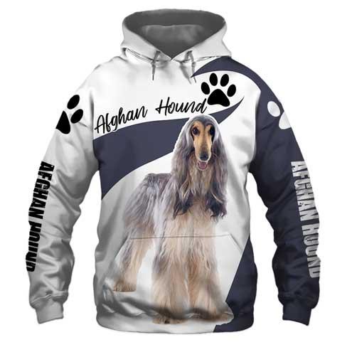 3D T-shirt – Hoodie Afghan Hound Art  - GGWC02525