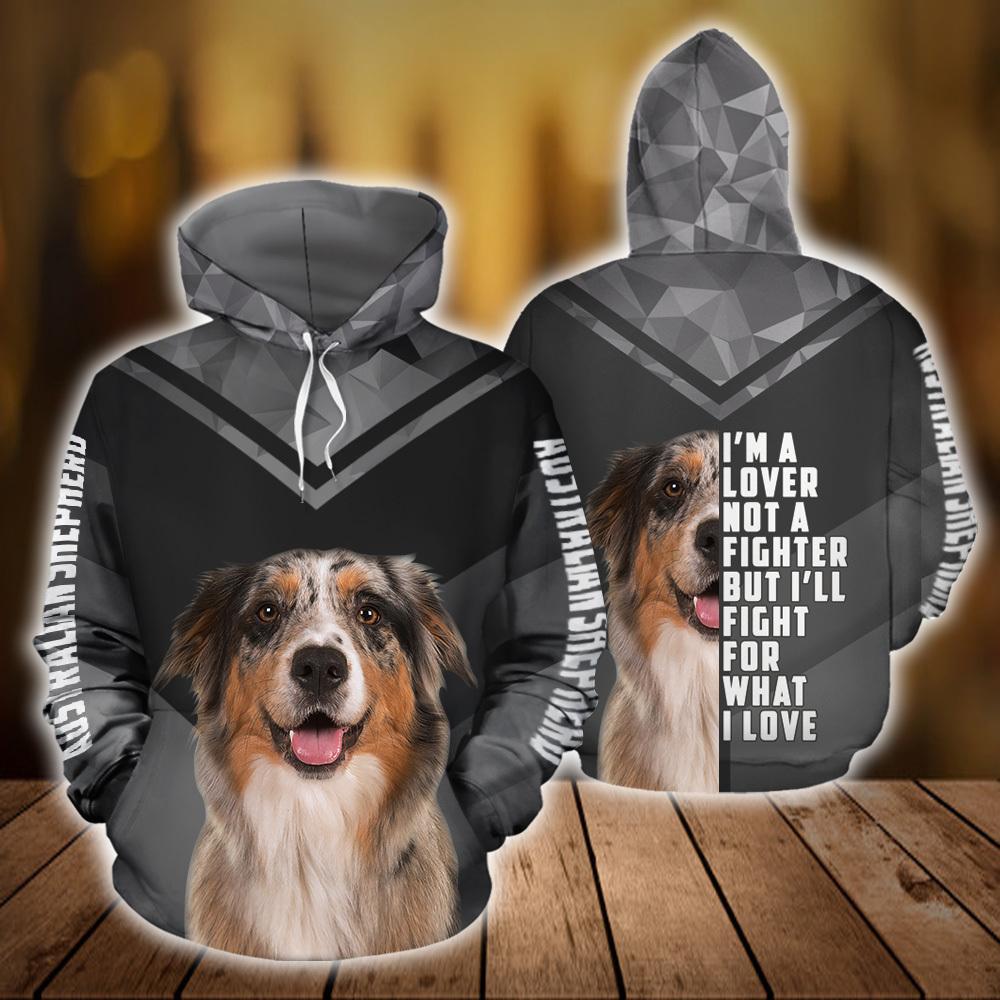 Australian Shepherd Dog 3D All Over Printed Hoodie AM120809