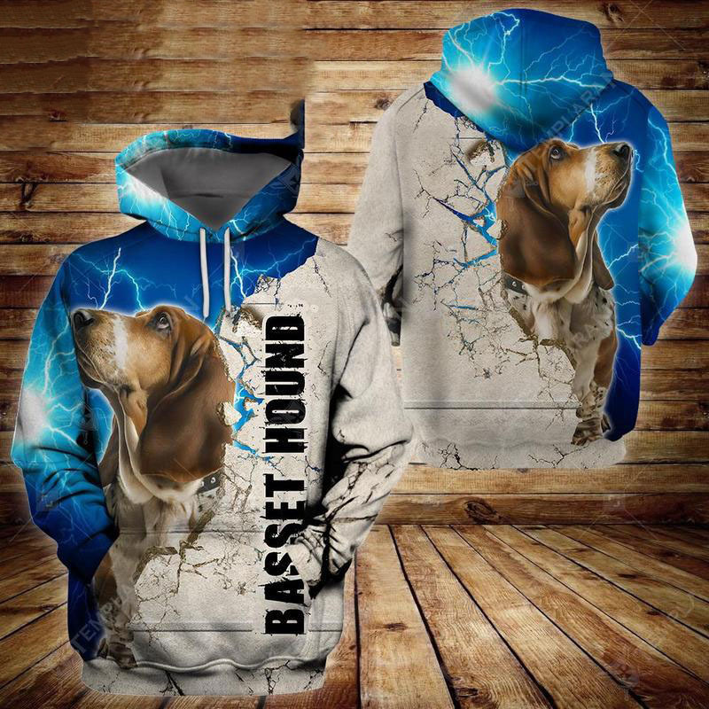 Basset Hound Dog 3D All Over Printed Hoodie AM250814