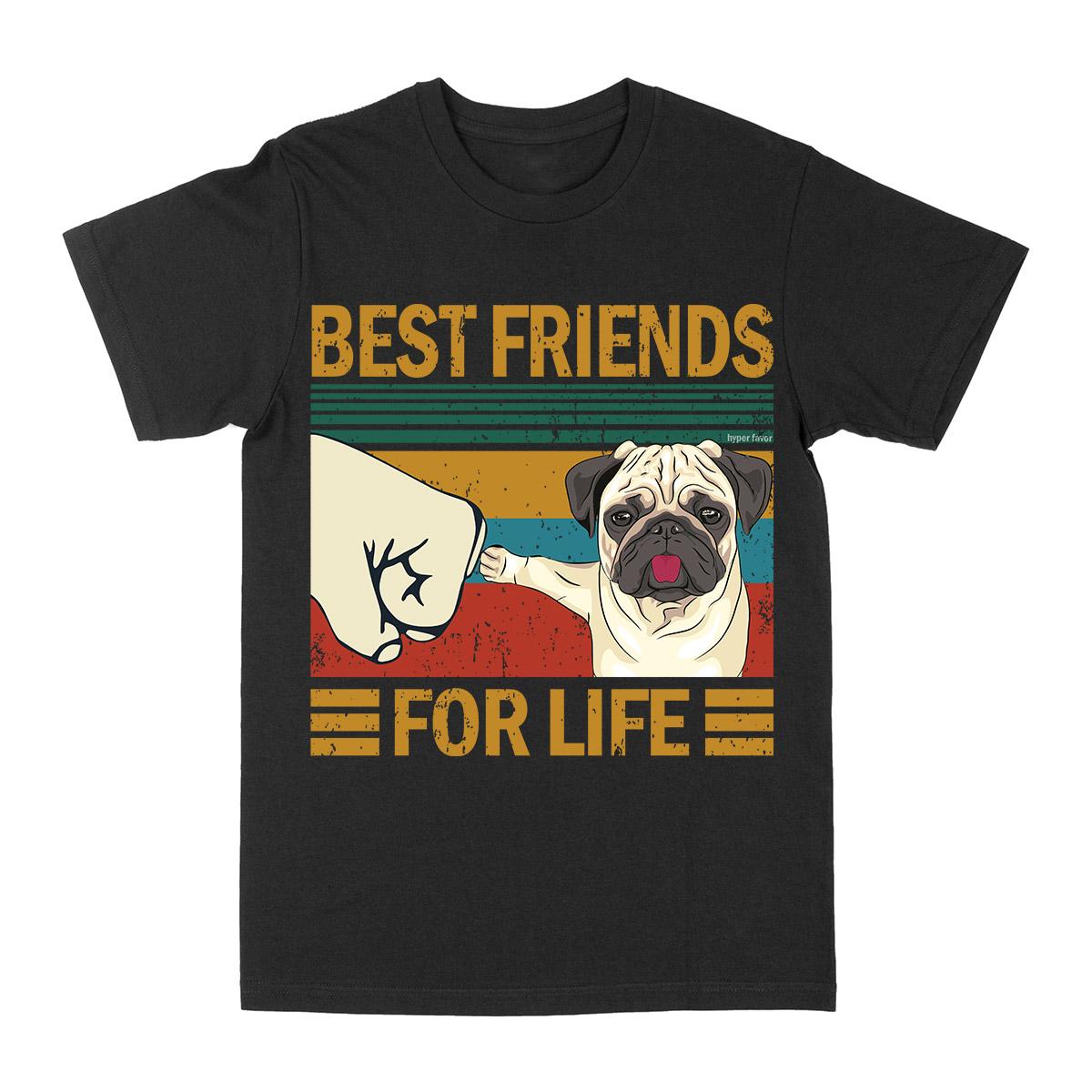 Pug Best Friends For Life EZ03 3103