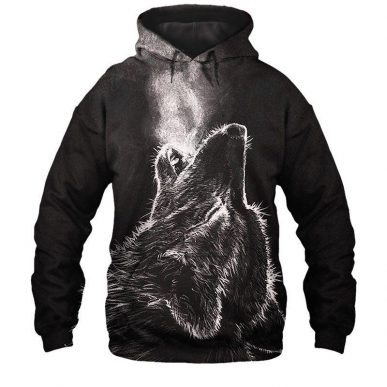 The Nice Shirts - Wolf 3D Hoodie - The Lonely Wolf 3D All Over Hoodie 3D Hoodie