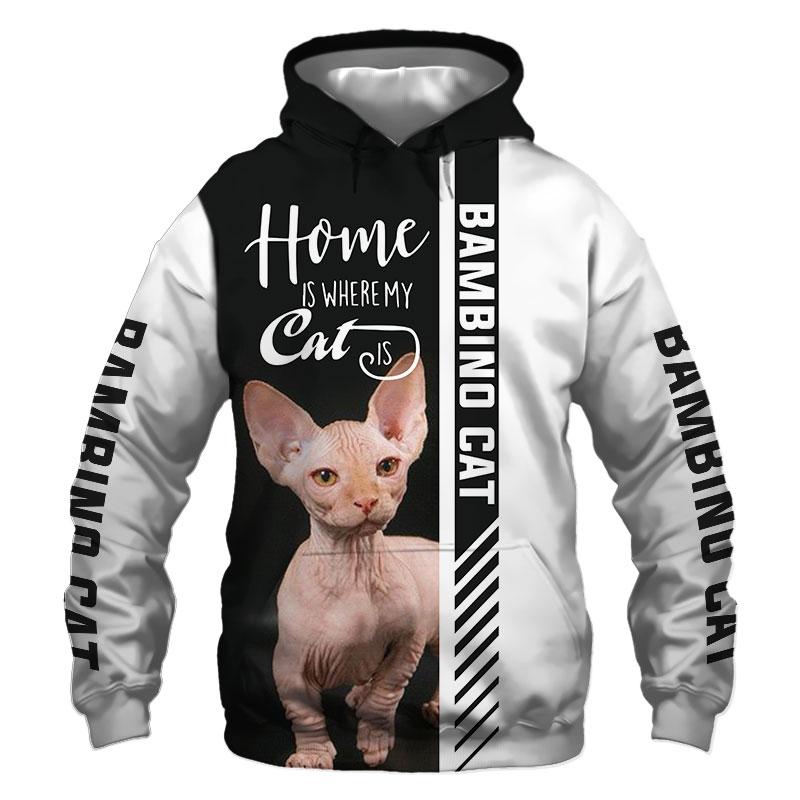Bambino cat Hoodie, Sweatshirt, TShirt, Jacket