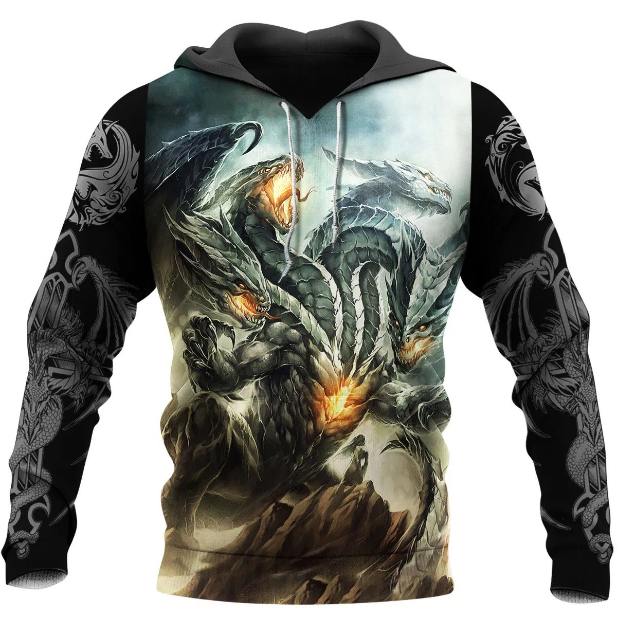 Dragon 3D All Over Printed Hoodie AM220604