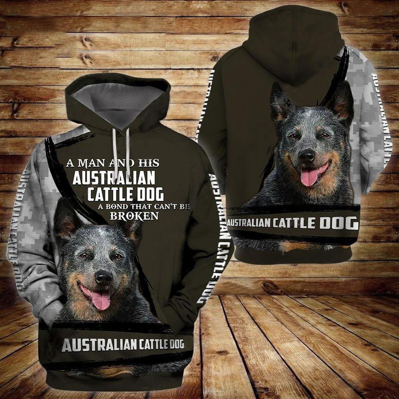 Australian Cattle Dog 3D All Over Printed Hoodie AM210854