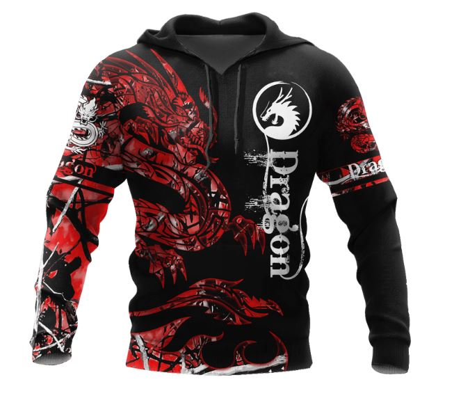 Dragon 3D All Over Printed Hoodie AM010677