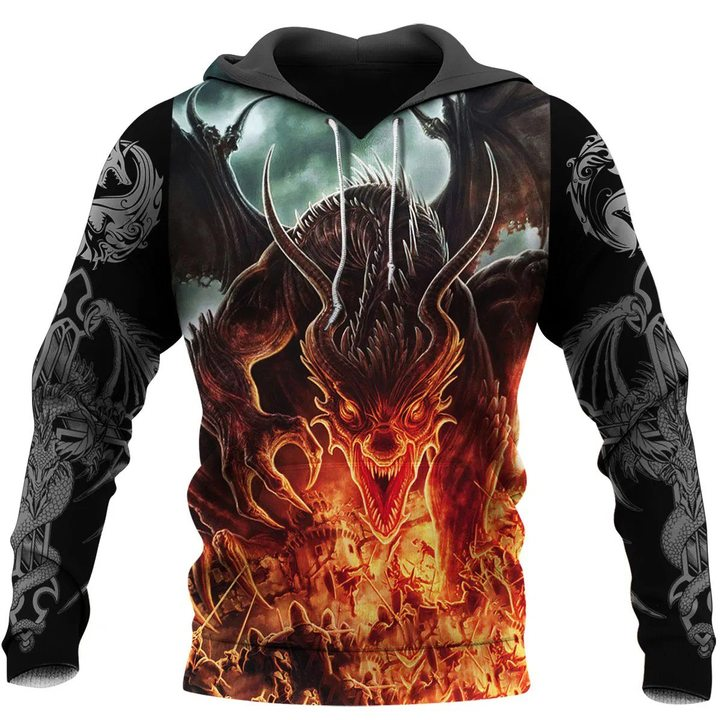 Dragon 3D All Over Printed Hoodie AM220610