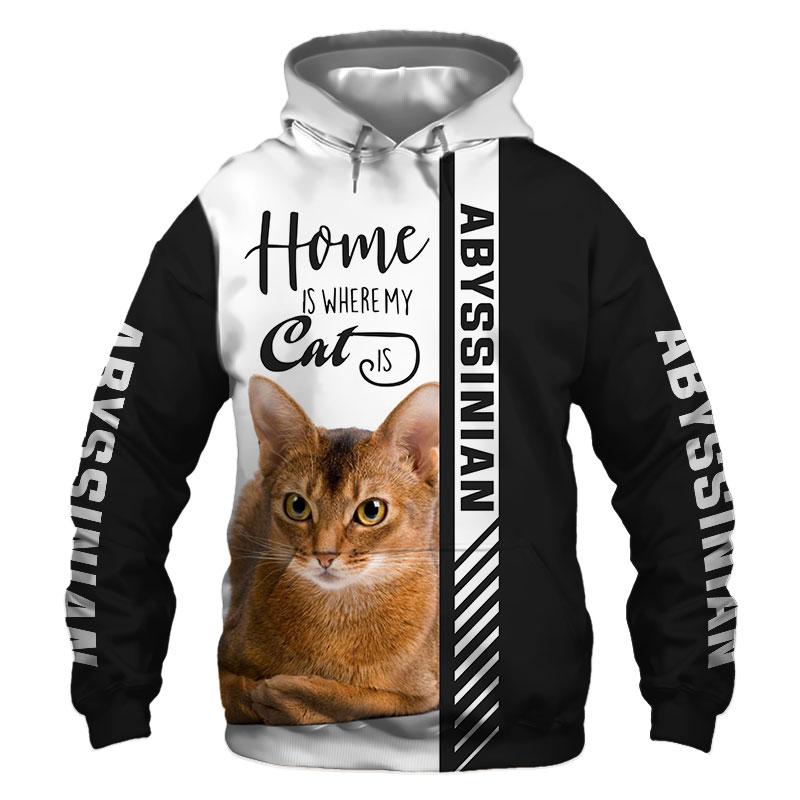 Abyssinian cat Hoodie, Sweatshirt, TShirt, Jacket