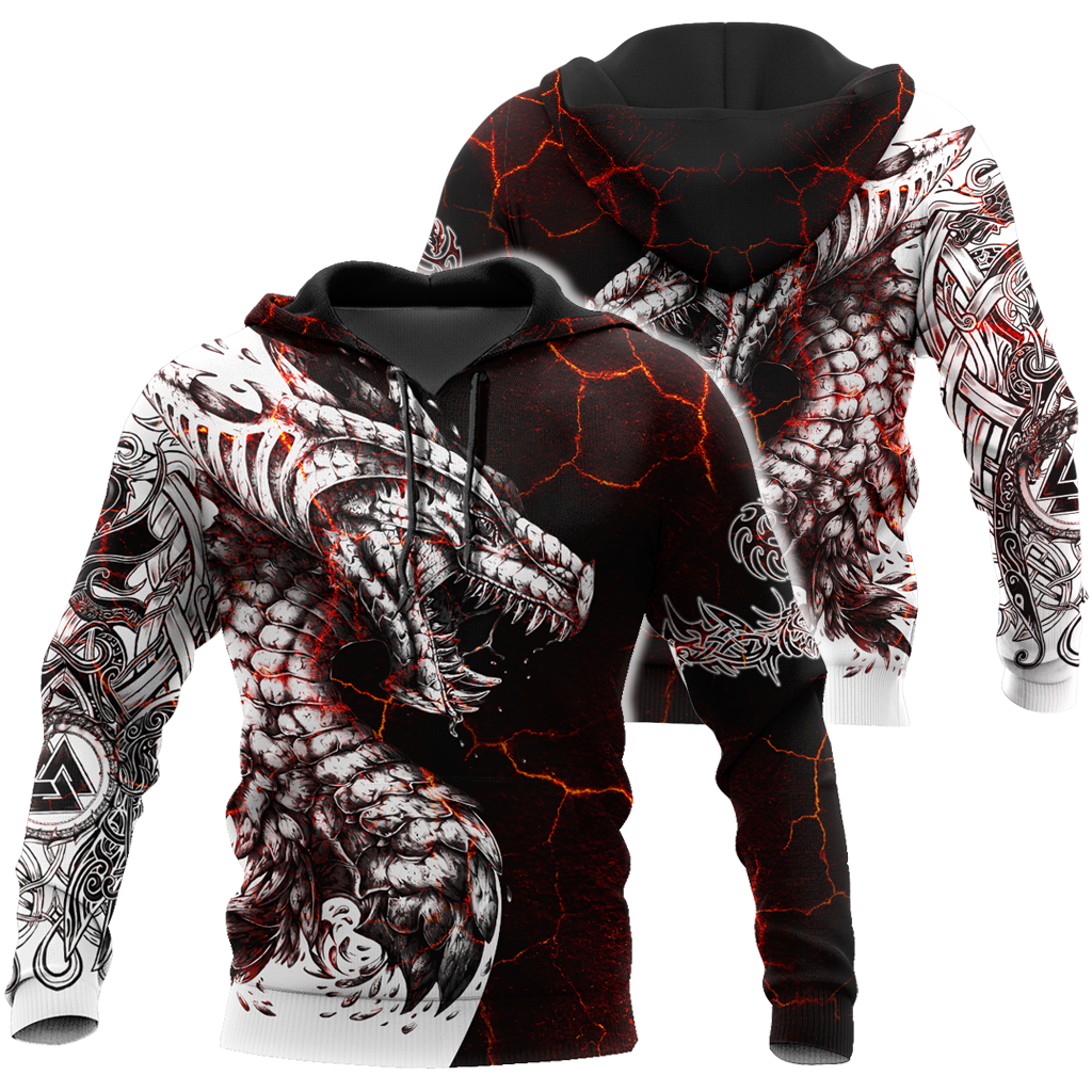 Black And White Tattoo Dragon 3D All Over Printed Hoodie AM200631