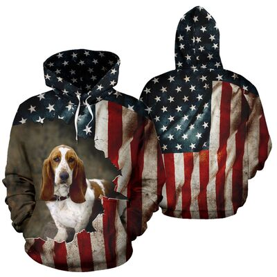 Basset Hound Dog 3D All Over Printed Hoodie AI110904