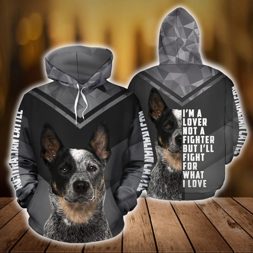 Australian Cattle Dog 3D All Over Printed Hoodie AM150803