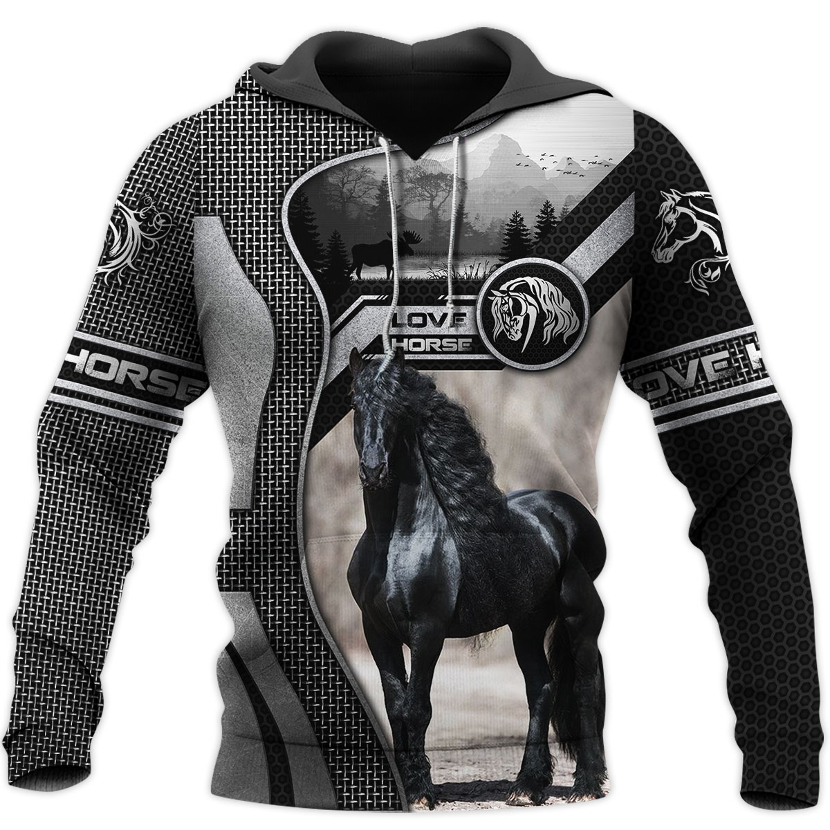 Love Horse 3D All Over Printed Shirts