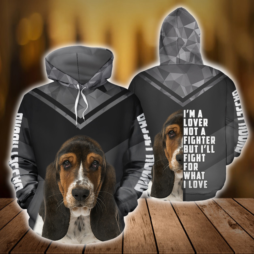 Basset Hound Dog 3D All Over Printed Hoodie AM150804