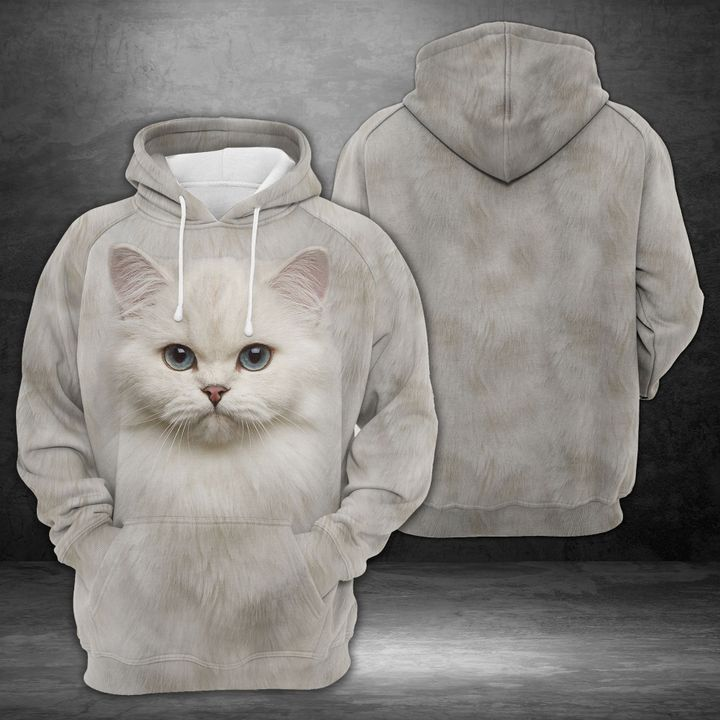 Adorable British Cat 3D All Over Printed Hoodie AM290650
