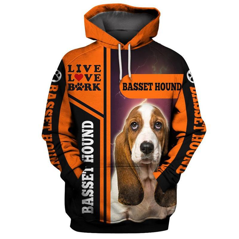 Basset Hound Dog 3D All Over Printed Hoodie AM240842