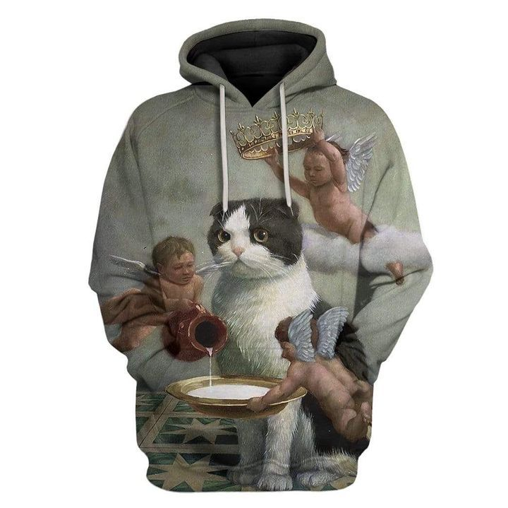 Angel Cat 3D All Over Printed Hoodie AM030708