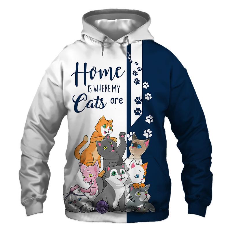 Cats Hoodie, Sweatshirt, TShirt, Jacket